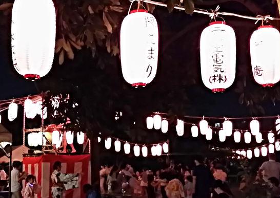 寿町中央公園の盆踊り