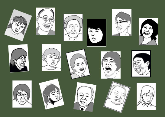 色々な顔のイラスト