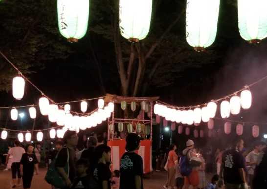 寿中央公園の盆踊り